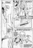 APARO, JIM - Batman #415 pg 2, Batman being shot by Gordon  Millenium X-over Comic Art